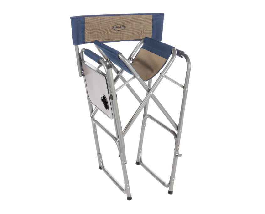 kamp rite high back director 39 s chair with side table kamp rite. Black Bedroom Furniture Sets. Home Design Ideas